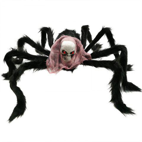 Halloween Spider Decoration Black Simulation Spiders with - multicolor B