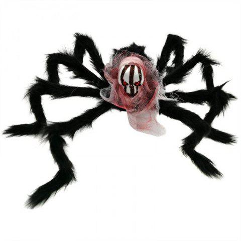 Halloween Spider Decoration Black Simulation Spiders with - multicolor A