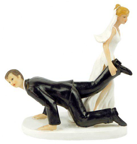 The Groom Who Can Not Escape Cake Topper Ornaments Decorations - WHITE