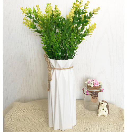 Home Crafts Ornaments Creative Artificial Flowers Vase - CRYSTAL CREAM