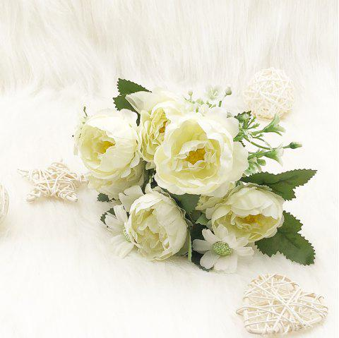 2018 silk spring white peony home decoration artificial flower in silk spring white peony home decoration artificial flower warm white mightylinksfo