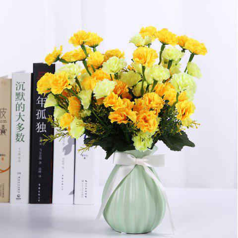 7 Heads Luxury Silk Carnation Home Decoration Artificial Flower - MUSTARD