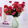 Un Bouquet de 7 Têtes Carnation Home Decor Fleur Artificielle - Rouge Rose