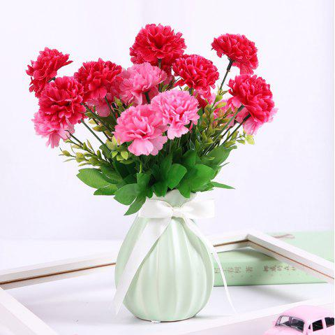 Sweet A Bouquet of Room Decoration Artificial Carnation Flower - ROSE RED