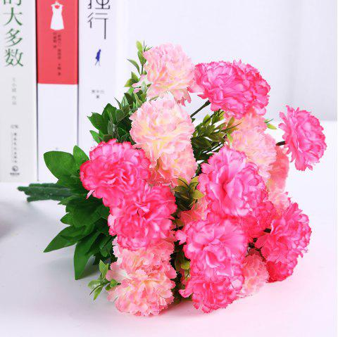 Luxury A Bouquet of Room Decoration Artificial Carnation Flower - BLUSH RED