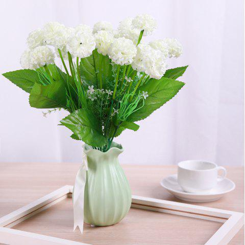 Sweet White A Bouquet of Room Decoration Artificial Hydrangea Flower - MILK WHITE