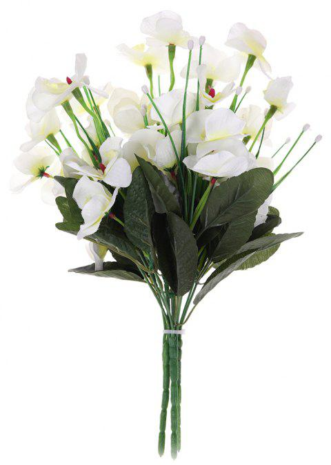 Modern A Bouquet of Room Decoration Artificial Phalaenopsis Flower - MILK WHITE