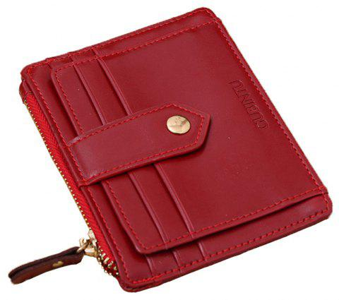 Zipper Multifunction Men'S Wallet - Rouge 1PC