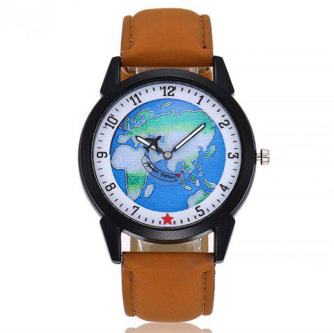 Seasonal Neutral Quartz Fashion Men and Women Simple Watch - BROWN