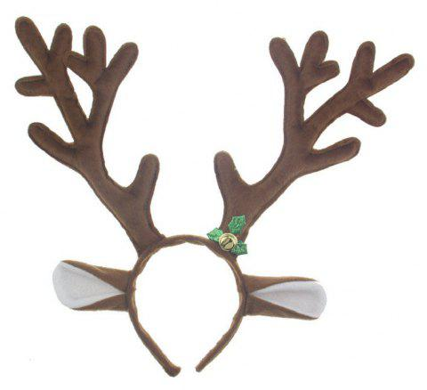 Christmas Antlers Hair Band Performing Masquerade Props - COFFEE