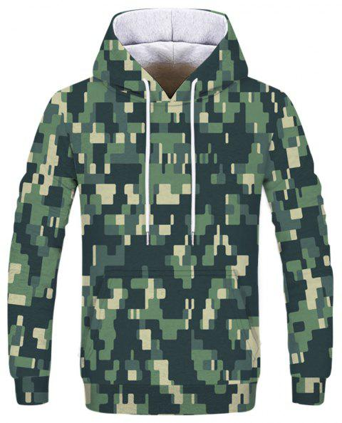 Personality Men's 3D Printed Fashion Hooded Sweater - multicolor M