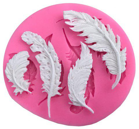 Feather Fondant Cake Decorating Tools DIY Craft Silicone Cake Baking Mold - PINK ROSE