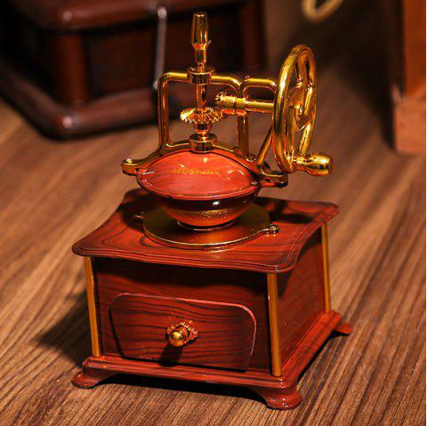 Vintage Coffee Machine Styling Musical Jewelry Box - multicolor B 13*11*20.5CM
