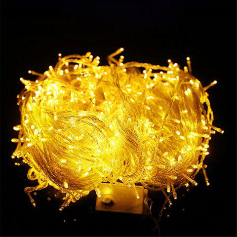 10m/72pcs 220V LED Light Strap Lamp Waterproof For Christmas Tree  Decoration - BRIGHT YELLOW