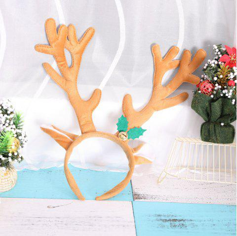 Big Antlers Christmas Headbands Cute Adults Kids Xmas Party Cosplay Supplies - LIGHT BROWN 34*34CM