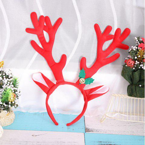 Big Antlers Christmas Headbands Cute Adults Kids Xmas Party Cosplay Supplies - RED 34*34CM