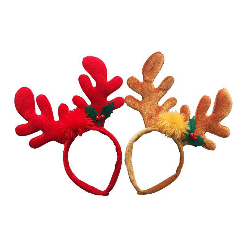 Christmas Hair Red Antler Band Buckle Gifts Party Decoration Supplies