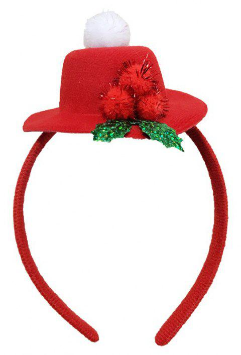 Christmas Plush Hat Antlers Fancy Dress Costume Accessory - RED 2PCS