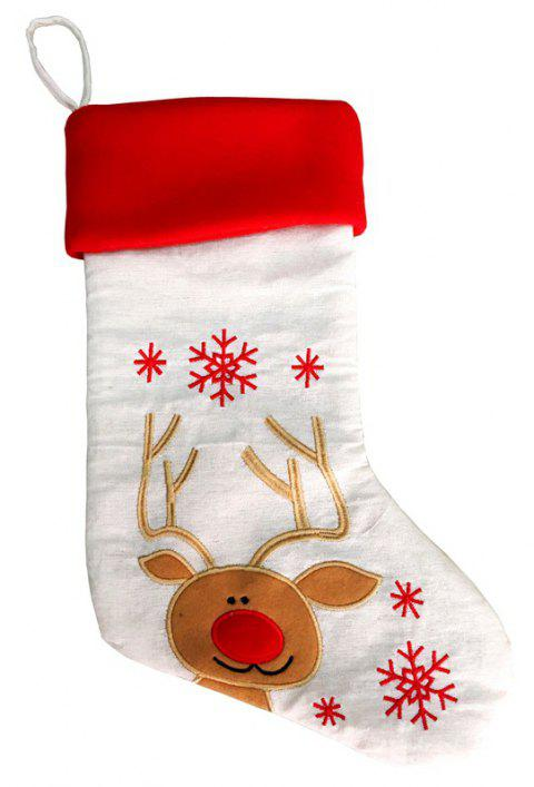 Christmas Stocking Snowman Reindeer Gift Ornament Socks Decoration - multicolor C 43*25CM