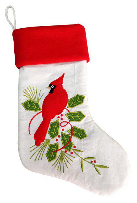 Christmas Stocking Snowman Reindeer Gift Ornament Socks Decoration - multicolor E 43*25CM