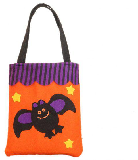 Colorful Halloween Candy Bag Gift Bags Pumpkin - multicolor E 39*18CM