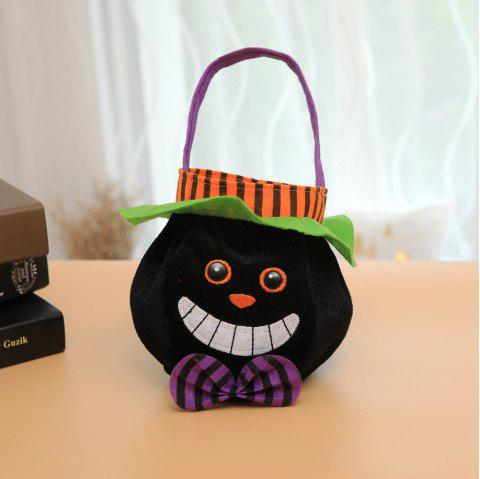 Halloween Treat Candy Bag Kids Sugar Holder Pouch Gift - BLACK 25*16CM