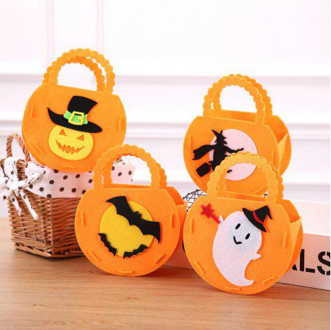 Halloween Pumpkins Gift Bags For Ghost Festival Candy - ORANGE 4PCS