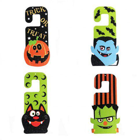 Halloween Drop Ornaments Hanging Party Pumpkin Ghost Horror - multicolor 2 PAIRS