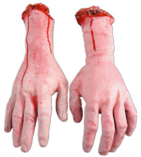 Halloween Decoration Severed Bloody Hand Dead Broken - RED 1 PAIR