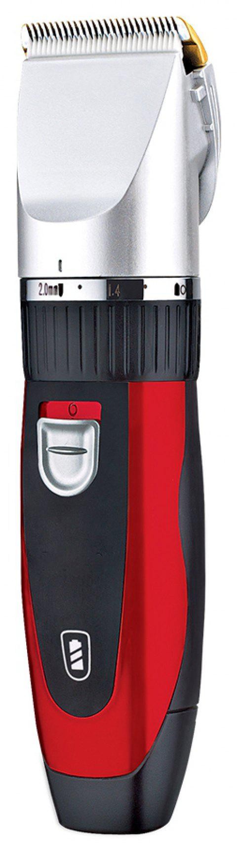 SURKER Electric Hair Clipper Ceramic Cutter Head Detachable Battery - RED WINE
