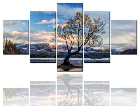 8 Pcs HD Inkjet Paints Sunset Over The Lake Decorative Painting - multicolor 1PC X 16 X 39,2PCS X 16 X 24,2PCS X 16 X 31 INCH(