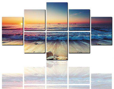 8 Pcs HD Inkjet Paints Seaside Scenery Sunset Decorative Painting - multicolor 40CM*40CM*4PCS+40CM*50CM*2PCS+40CM*60CM*2PCS