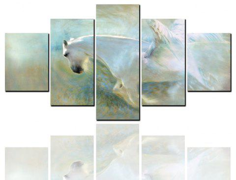 5 Pcs HD Inkjet Paints Abstract Wings Horse Animal Decorative Painting - multicolor 1PC X 8 X 20,2PCS X 8 X 12,2PCS X 8 X 16 INCH( NO
