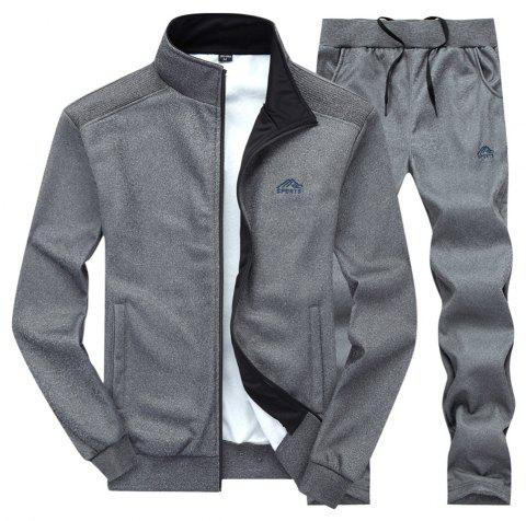 Men'S and Women'S Sports Suits suits couples sizes - DARK GRAY 3XL
