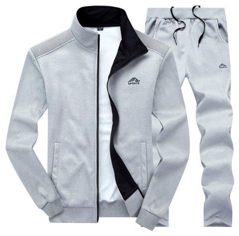 Men'S and Women'S Sports Suits suits couples sizes - LIGHT GRAY XL