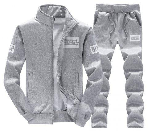 Men'S Suits sport Suits couple Suits sportswear Suits running Suits - GRAY 2XL
