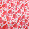 Summer V Love Style Short Sleeved LARGE PENDANT Printed Dress - RED L