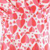 Summer V Love Style Short Sleeved LARGE PENDANT Printed Dress - RED XL