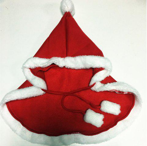 2018 Christmas Service New Pet Shaw Christmas Halloween Dog Clothes - RED L
