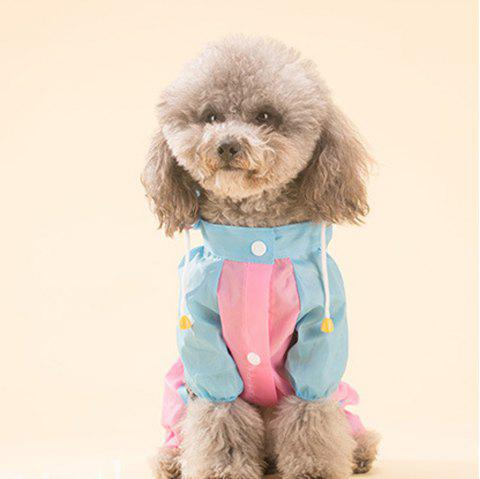 Transparent Stitching Dog Raincoat Small and Medium Dog Summer Sunscreen - multicolor A S