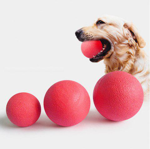 Training Dog Bite Ball Solid Rubber Bouncy Ball Pet Toy Ball - RED