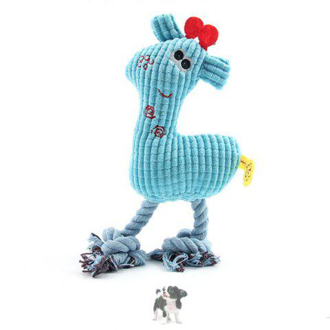 Pet Plush Toy Corn Grain Deer Vocal Dog Toy - LIGHT BLUE 1PC