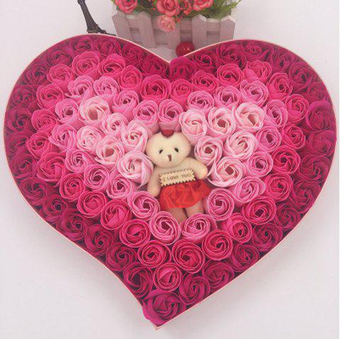 100 Roses Valentine'S Day Gift Christmas Gift Thanksgiving Birthday Gift Confess - multicolor A 1 SET