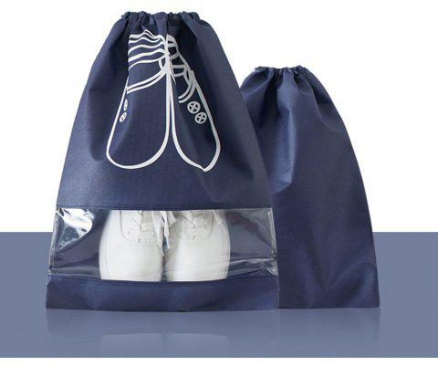 Home Travel Shoes Storage Bag Female Simple Waterproof - MIDNIGHT BLUE PACK OF 2