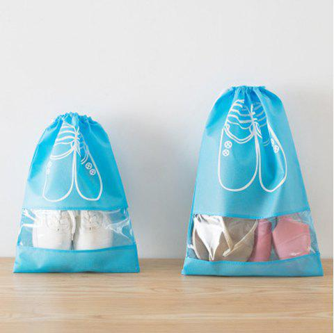 Home Travel Shoes Storage Bag Female Simple Waterproof - DAY SKY BLUE PACK OF 2