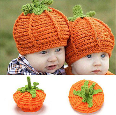 Bébé Cent Cent Jours Photographie Vêtements Halloween Bébé À La Main Bonnet De Laine - Orange Halloween 1PC