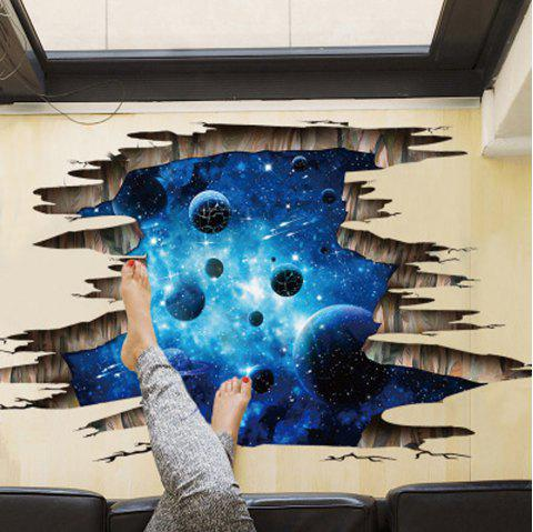 New 3D Wall Sticker Dark Blue Galaxy Planet - DEEP BLUE 24 X 36 INCH