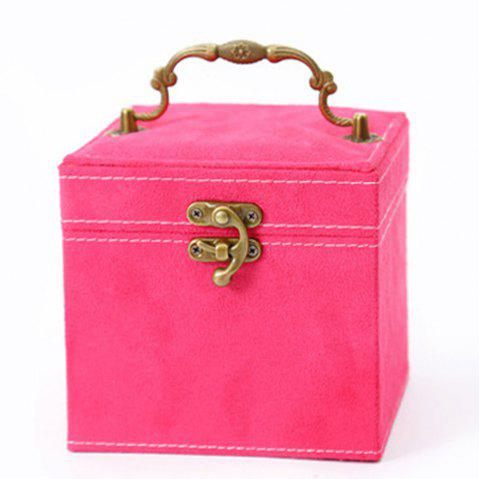 The Princess European Jewelry Box Three Layers of Cosmetic Boxes Cosmetic Box - ROSE RED 1PC