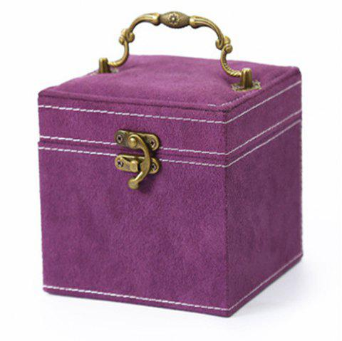 The Princess European Jewelry Box Three Layers of Cosmetic Boxes Cosmetic Box - VIOLA PURPLE 1PC