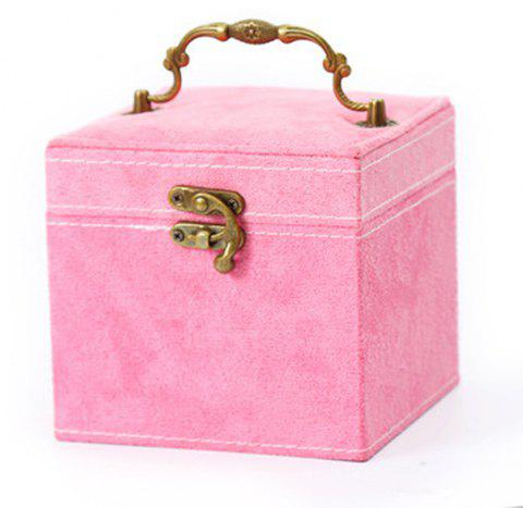 The Princess European Jewelry Box Three Layers of Cosmetic Boxes Cosmetic Box - PINK 1PC